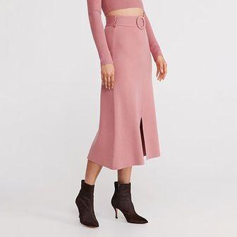 Reserved - Dzianinowa spódnica - Różowy