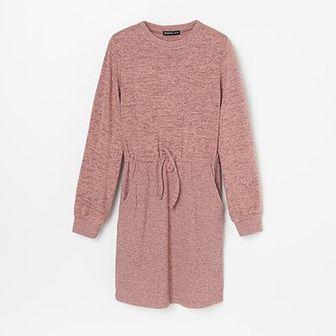 Reserved - Sukienka z miękkiej dzianiny - Różowy