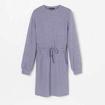 Reserved - Sukienka z miękkiej dzianiny - Niebieski