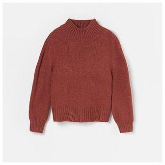 Reserved - Sweter z pólgolfem - Różowy
