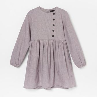 Reserved - Sukienka z bawełny i lnu - Fioletowy