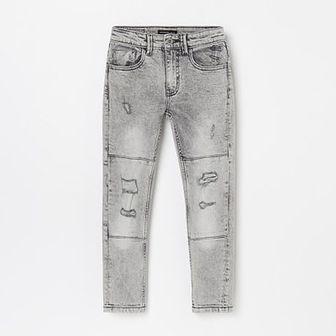 Reserved - Spodnie jeansowe z efektem wybarwienia - Jasny szary
