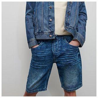 Reserved - Jeansowe szorty z elastycznym pasem -
