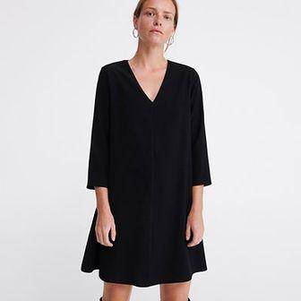 Reserved - Gładka sukienka - Czarny