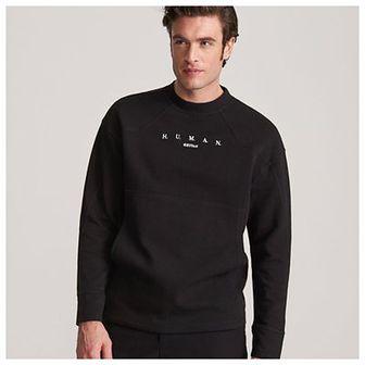 Reserved - Bluza z wyszywanym napisem - Czarny