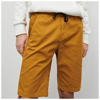 Reserved - Szorty z elastycznym pasem - Żółty