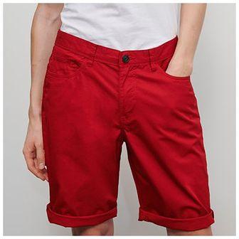 Reserved - Bawełniane szorty - Czerwony