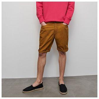 Reserved - Bawełniane szorty - Brązowy