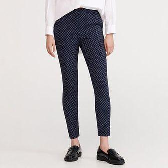 Reserved - Spodnie z mikroprintem - Granatowy