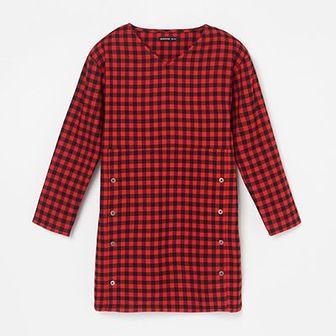 Reserved - Sukienka w kratę - Czerwony