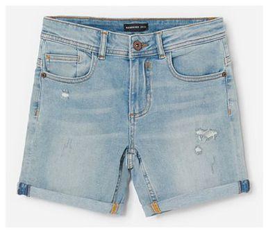 Reserved - Jeansowe szorty z przetarciami - Niebieski