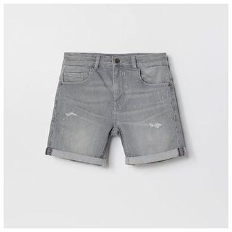 Reserved - Jeansowe szorty z przetarciami - Jasny szary