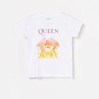 Reserved - Bawełniany T-shirt Queen - Biały