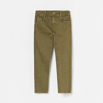 Reserved - Spodnie z elastycznego materiału - Khaki