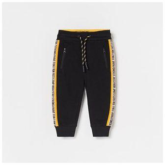 Reserved - Dresowe spodnie z kieszeniami na suwak - Czarny