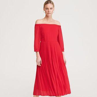 Reserved - Sukienka z plisowanym dołem - Czerwony
