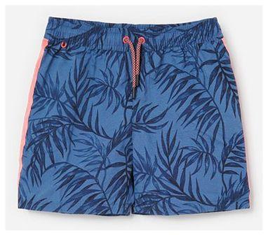 Reserved - Wzorzyste szorty plażowe - Niebieski