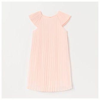 Reserved - Plisowana sukienka - Pomarańczowy