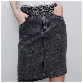 Reserved - Jeansowa spódnica - Szary