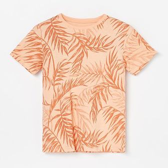Reserved - Koszulka z botanicznym wzorem - Pomarańczowy