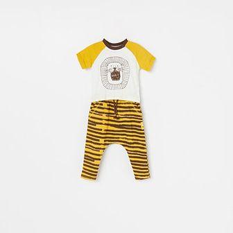 Reserved - Zestaw t-shirt i spodnie - Żółty