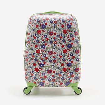 Reserved - Wzorzysta walizka na kółkach - Różowy
