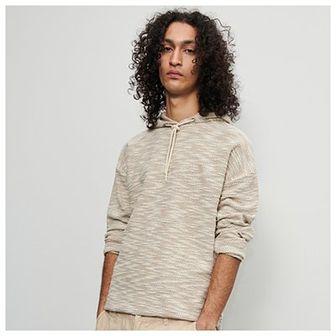 Reserved - Bluza ze strukturalnym wzorem - Beżowy