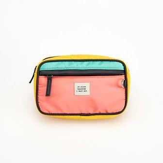 Reserved - Kolorowa saszetka z kieszenią - Pomarańczowy