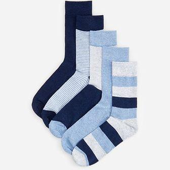 Reserved - Skarpety 5 pack - Niebieski