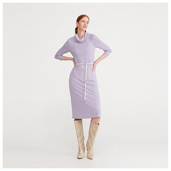 Reserved - Dzianinowa sukienka - Fioletowy