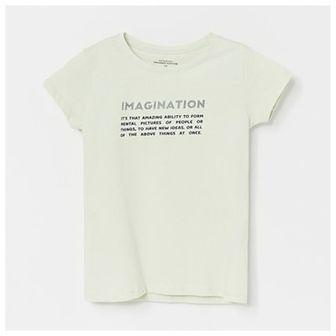 Reserved - Bawełniany t-shirt z napisem - Zielony