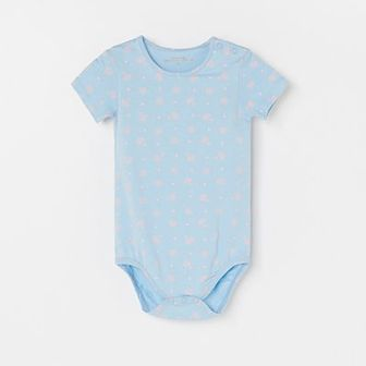 Reserved - Bawełniane body ze wzorem - Niebieski