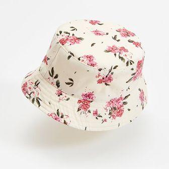 Reserved - Dwustronny kapelusz z bawełny - Beżowy