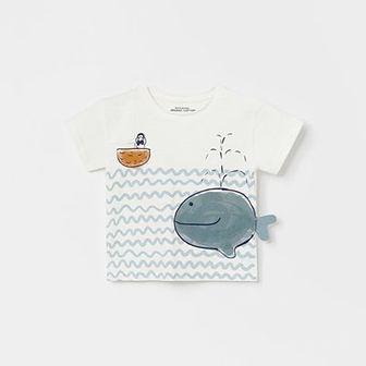 Reserved - Koszulka z nadrukiem - Kremowy