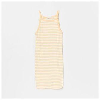 Reserved - Dzianinowa sukienka na ramiączkach - Beżowy