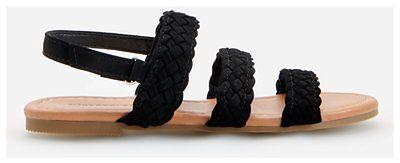 Reserved - Sandały na płaskiej podeszwie - Czarny