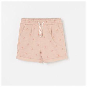 Reserved - Bawełniane szorty ze wzorem - Różowy