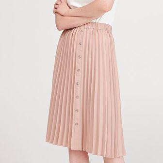 Reserved - Plisowana spódnica - Beżowy