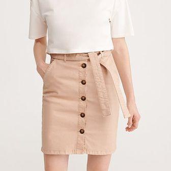 Reserved - Spódnica z paskiem - Beżowy