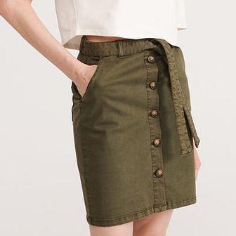 Reserved - Spódnica z paskiem - Khaki
