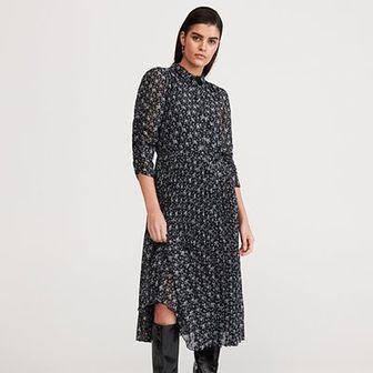 Reserved - Sukienka z plisowanym dołem - Wielobarwny