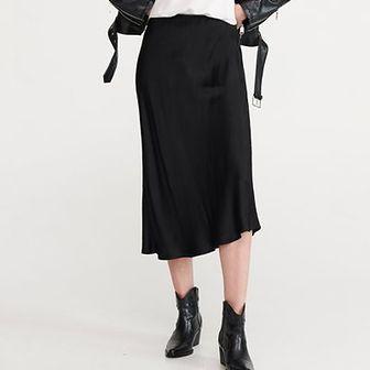 Reserved - Spódnica o satynowym połysku - Czarny