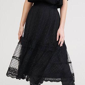 Reserved - Koronkowa spódnica - Czarny