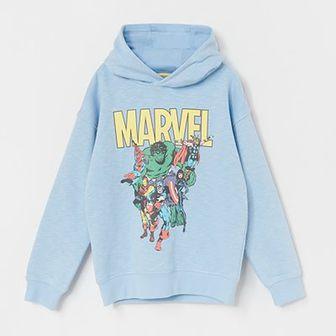 Reserved - Bluza dresowa z motywem Marvel - Niebieski