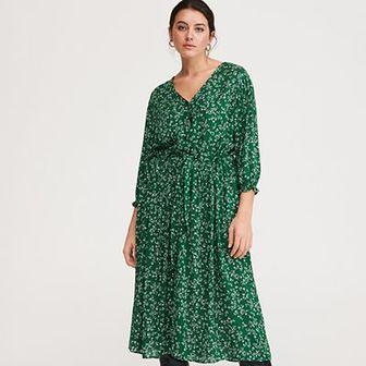 Reserved - Sukienka w drobne kwiaty - Zielony