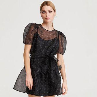 Reserved - Sukienka z organzy - Wielobarwny