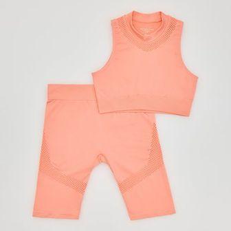 Reserved - Top i szorty w sportowym stylu - Pomarańczowy