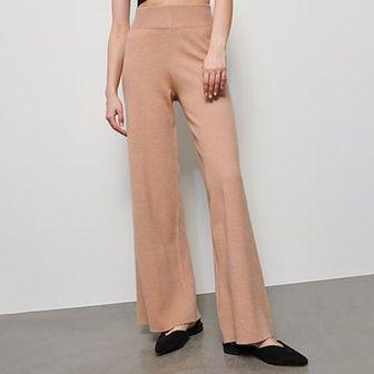 Reserved - Spodnie dresowe z szerokimi nogawkami - Beżowy