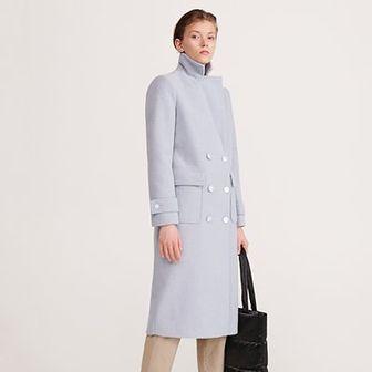 Reserved - Dwurzędowy płaszcz - Niebieski