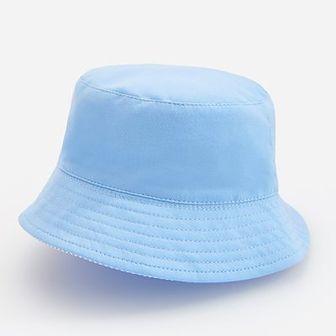 Reserved - Bawełniany kapelusz z podszewką w paski - Niebieski